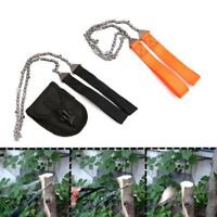 Portable Survival Chain Saw Emergency Tool Black Effective 1pc Oxford Handsaw
