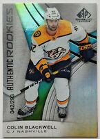 2019-20 UD SP Game Used 42/293 Colin Blackwell Parallel Card
