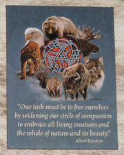 """LEANIN TREE """"Animal Spirit Circle"""" Embrace All Living Creatures #31479 Magnet~"""