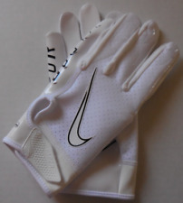 Nike Youth Vapor Jet 6.0 Football Gloves White/White/Black Size L