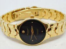 """Precision by Gruen Genuine Diamond Gold Tone Quartz Analog Ladies Watch Sz. 7"""""""