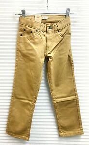 Levi's 511 Slim Fit Boys Jeans Khaki Pants Adjustable Waist - NWT