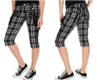 TRIPP NYC GOTHIC PLAID STRAPS PUNK GOTH ROCK STAR CAPRI PANTS HY6803