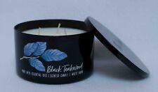 Bath & Body Works Black Teakwood Low Profile Large  3-Wick 14.5 oz Candle