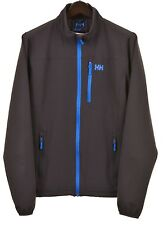 Helly Hansen Mens Gray Poly Stretch Full Zip Soft Shell Track Jacket M