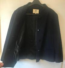 Viyella UK 16 Navy Cashmere Blend Swing Coat Jacket Boxy Work Warm Casual Nice