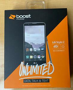 "BRAND NEW LG Stylo 2 LS775 - 16GB - Titan (Boost Mobile) 5.7"" 1080P Smartphone"