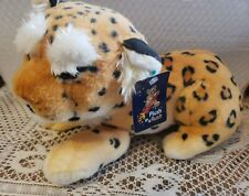 "Fiesta Toy Lying Leopard Plush 13.5"" Stuffed Animal Jungle Exotic Cat"