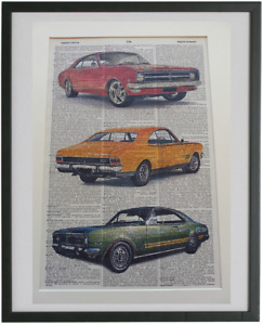 Holden Monaro Print No.464, vintage cars poster, holden posters