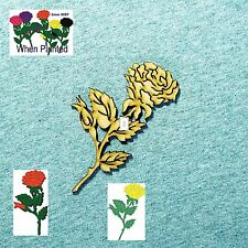 6 pack of 100mm ROSES look great when painted other sizes available  MDF #F134