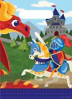 8 x Medieval Prince Loot Bags Boys Birthday Party Supplies Knight Goody Treat