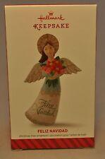 Hallmark - Feliz Navidad - 2014 Angel Armful of Blossoms - Keepsake Ornament