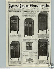 1921 PAPER AD Grand Opera Phonograph Floor Console Kewpie Dolls Carnival