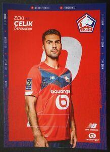 70 Autogrammkarte Zeki Celik LOSC Lille Fussball 2021/22