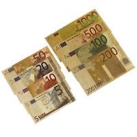 8 Teil /Satz Euro Banknote Goldfolie Papier Geld Craftcollection Banknote Curren