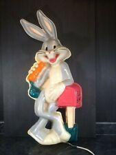 New listing Looney Tunes Bugs Bunny Plastic Headlights Wall Light Sculpture 1992 26� Tall