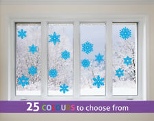 15 mixed size SNOWFLAKES pack Christmas frozen window vinyl wall sticker decal