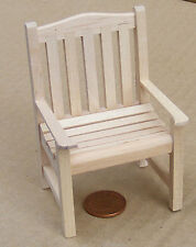 1:12 Scale Natural Finish Wooden Chair Dolls House Garden Seat Accessory 145