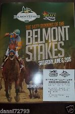 "2015 Belmont Stakes ""AMERICAN PHAROAH"" PROGRAM & $2 win TICKET  TRIPLE CROWN 3"