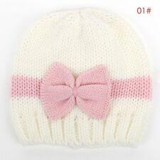 Cute Baby Kids Girls Toddler Winter Warm Knitted Crochet Beanie Hat Beret Cap
