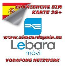 Lebara airtel española tarjeta SIM 3g datos de Internet España
