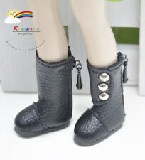 3-Stud Boots Shoes Black for Blythe/Lati Yellow doll