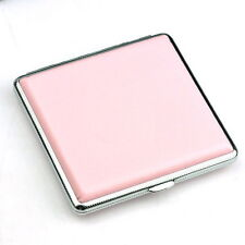 Pink Leather Cigarette Case Box Hold For 20 Cigarettes 300B