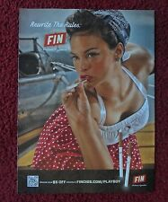 2013 Print Ad FIN Electronic Cigarettes ~ Busty Girl Rewrite the Rules