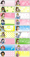24 DISNEY PRINCESS Personalised Name Sticker,Label,Tag