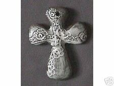 "Original Handmade ""Lace Cross"" by clay artist, Bahereh"