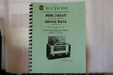 Service Manual For RCA Strato-World 3BX671 Portable
