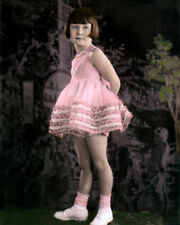 "MARY ANN JACKSON THE LITTLE RASCALS OUR GANG 8x10"" HAND COLOR TINTED PHOTOGRAPH"