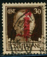 ITALY SOCIAL REPUBLIC 1944 30c scarce red overprint, used cat $2,590