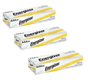 Energizer Industrial EN92 AAA Batteries 24 Pack x 3 (72 batteries)