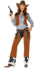 Womens Western Cowgirl Rodeo Wild West Fancy Dress Costume Outfit