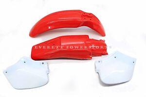 Plastic Body Kit 96-04 XR250 XR400 Side Panels Front Rear Fenders Mud Guards N12