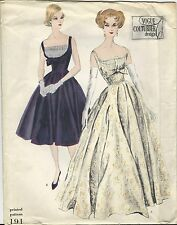 VTG 1959 VOGUE Couturier Evening Dress Gown PATTERN 191 Size 14 UNCUT LABEL
