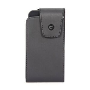 Black Leather Side Case Cover Pouch Holster Swivel Belt Clip for Cell Phones
