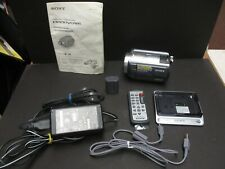 Sony DCR-SR80 camcorder & ac charger, remote, book, station all mint