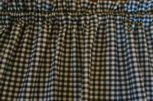 Valance Black and White Check Curtain Gingham Check for Any Room Prim Farmhouse