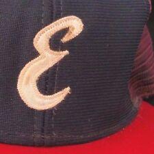 Vintage E New Era Mesh Trucker SnapBack Hat Cap made USA John P Gilmore Adj M-L