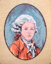 Vintage Margot de Paris Portrait Colonial Boy Petitpoint Needlepoint Canvas