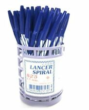 50x Lancer Spiral 825 Ballpoint Pen 0.5mm Blue Other Collectible Pens Writing