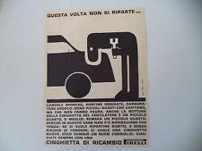 advertising Pubblicità 1962 CINGHIE PIRELLI