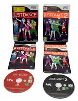 JUST DANCE Bundle 1 + 2 Nintendo Wii Games PAL UK Pegi 3 Boxed With Manuals VGC