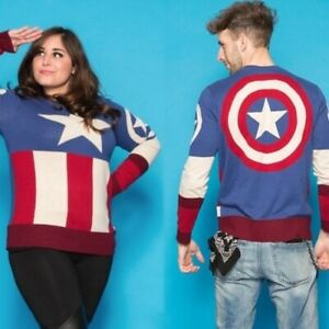 💫Marvel Captain America Uniform Sweater Blue S