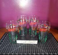 Coca Cola Coke Christmas Holiday Wreath Collectible Glass Set of (4) Vintage!!