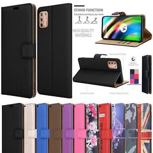 For Motorola Moto G9 Power Play E7 Plus Case Leather Wallet Cover + Screen Glass