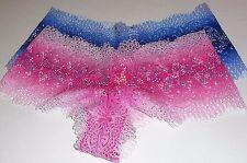 Victoria's Secret Floral Crochet Lace Boyshort Panties Small (S) X 2 NWT
