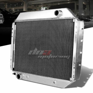 68-79 FORD F-SERIES F250/F350 V8 PICKUP TWO ROW/CORE ALUMINUM RACE RADIATOR+CAP
